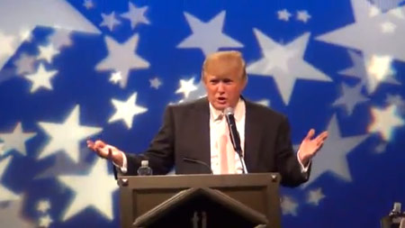 Donald Trump dishes F word at Las Vegas speech