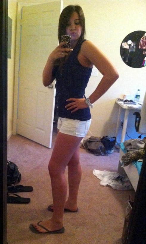 16 and Pregnant's Ashley Salazar shows off her thinner figure after losing weight