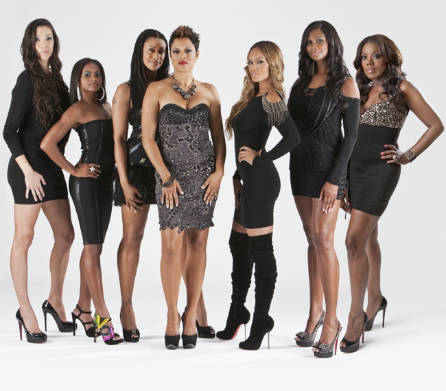 Picture of the entire cast of Basketball Wives Season 3 including Meeka Claxton