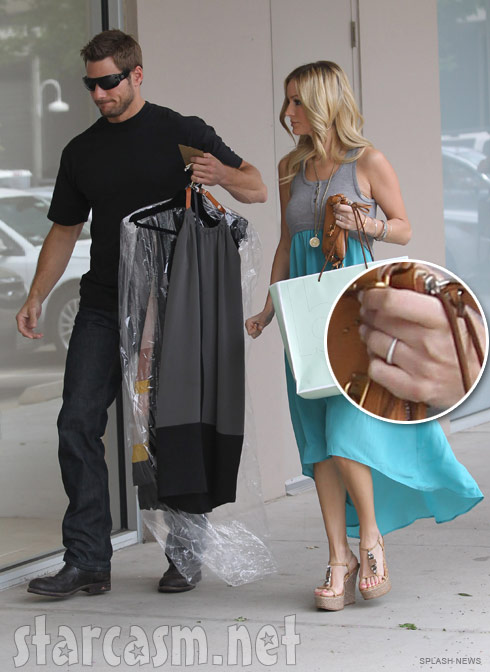 Emily Maynard with Brad Womack and wearing a ring in Austin, Texas April 30 2011