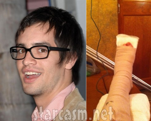 Panic! at the Disco singer Brendon Urie breaks ankle