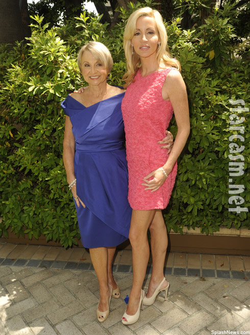 Camille Grammer and mom at John Wayne Breast Cancer Mother's Day event