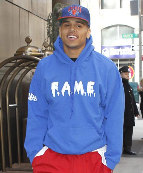 Chris Brown file photo NYC