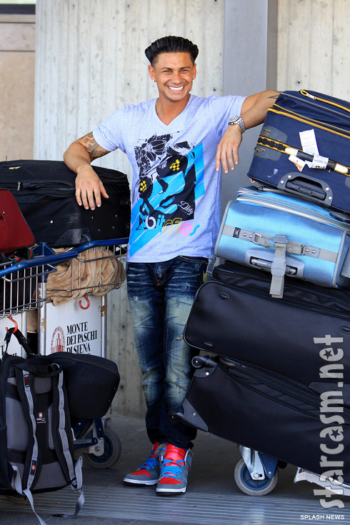 Jersey Shore's DJ Pauly D arrives in Florence Italy