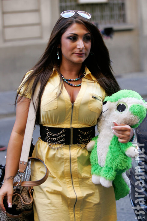 Deena Nicole Cortese from Jersey Shore arrives in Florence Italy