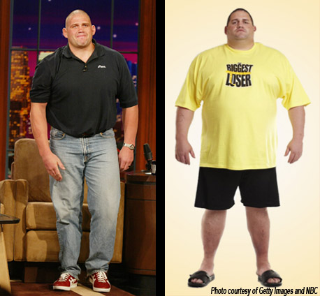 Rulon Gardner before and after his time on the Biggest Loser Ranch