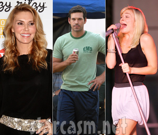 Brandi Glanville, Eddie Cibrian and LeAnn Rimes side-by-side