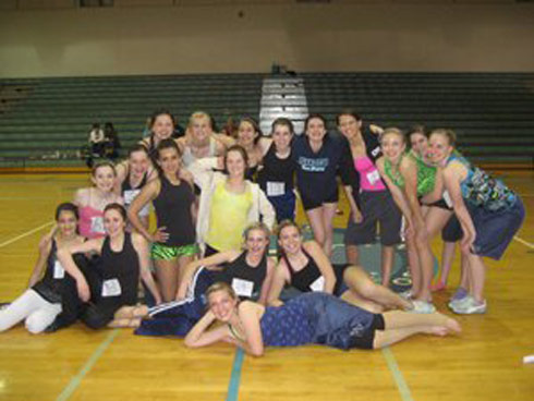 Juan Diego Catholic High School drill team with Izabella Tovar from 16 and Pregnant