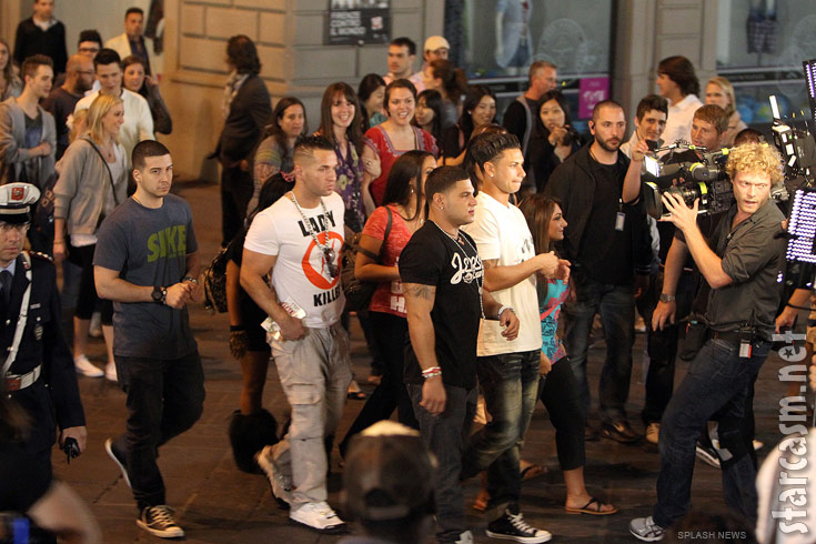 MTV films Season 4 of Jersey Shore on the streets of Florence Italy