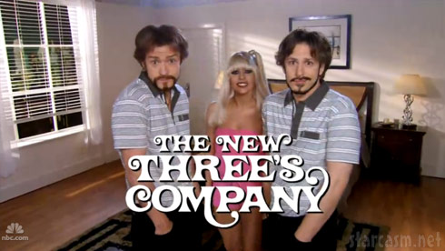 Lady Gaga as Suzanne Somers' Chrissy in The New Three's Comapany from SNL