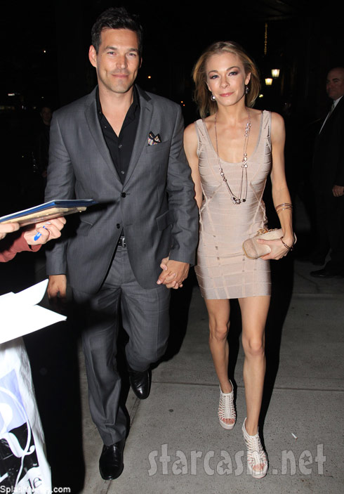 Eddie Cibrian with a thin looking LeAnn Rimes at NBC Upfront party in the NYC