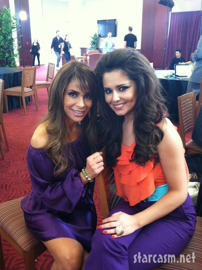 The X Factor judges Paula Abdul and Cheryl Cole unintentionally look like they are from the 1980's