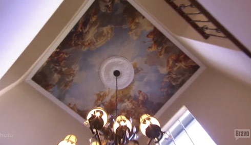 Ceiling mural from the home of Real Housewives of Orange County's Peggy Tanous