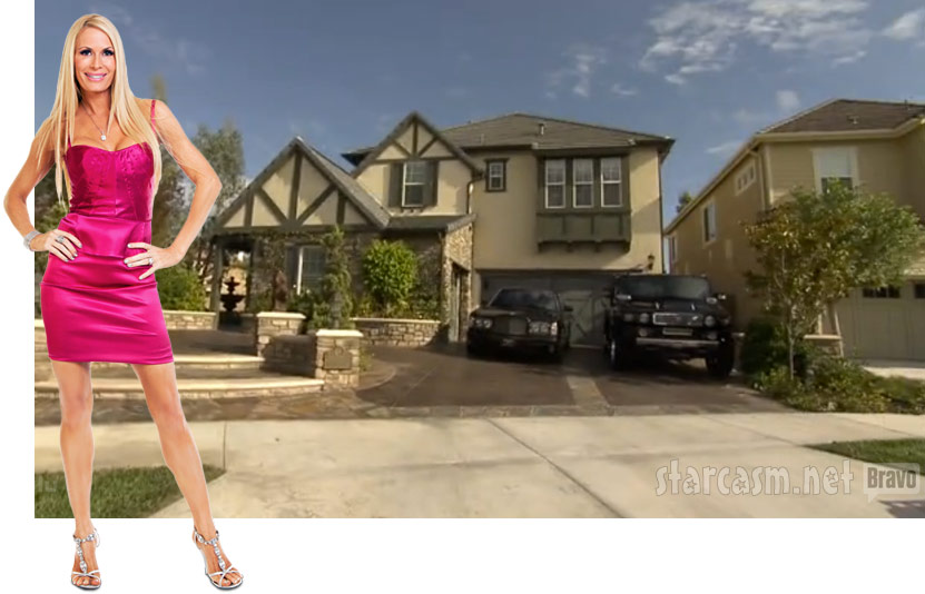Real Hosuewives of Orange County's Peggy Tanous in front of her home