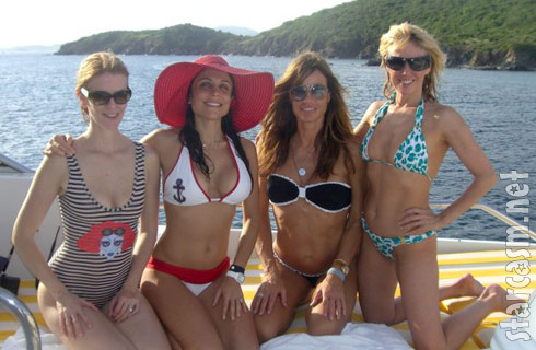 Swimwear photo of Alex McCord, Bethenny Frankel, Kelly Bensimon and Ramona Singer