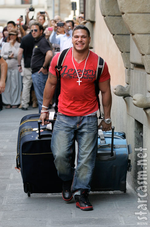Jersey Shore's Ronnie Ortiz-Magro arrives in Florence Italy