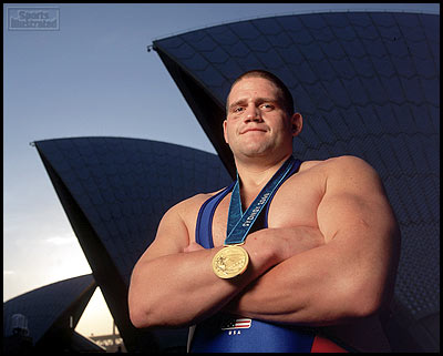 Rulon Gardner with Olympic medal