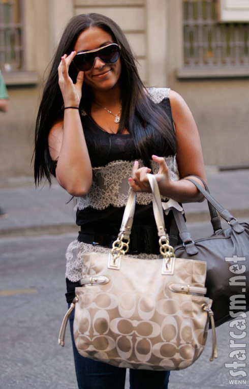 Jersey Shore's Sammi Giancola arrives in Florence Italy