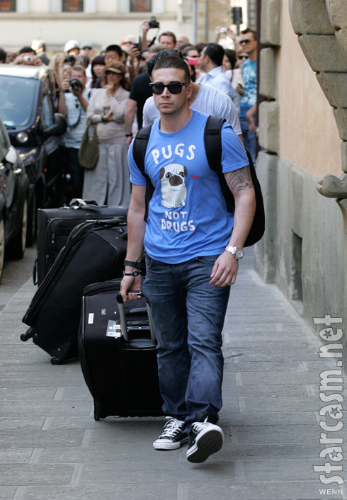 Jersey Shore's Vinny Guadagnino arrives in Florence Italy