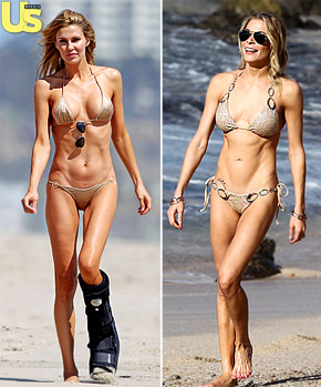 LeAnn Rimes and Brandi Glanville wear similar bikinis