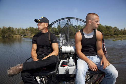 RJ and Jay Paul Molinere on their airboat