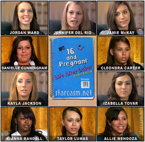 All the girls from the 16 and Pregnant Reunion Special Life After Labor with Dr. Drew