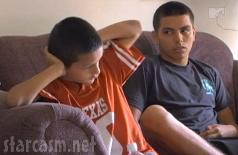 Allie Mendoza's bofriend's little brother covers his ears during his mom's tirade