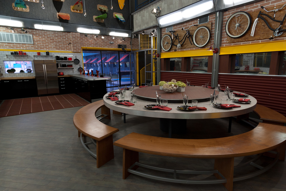 Picture of the dining room table in the Big Brother Season 13 house