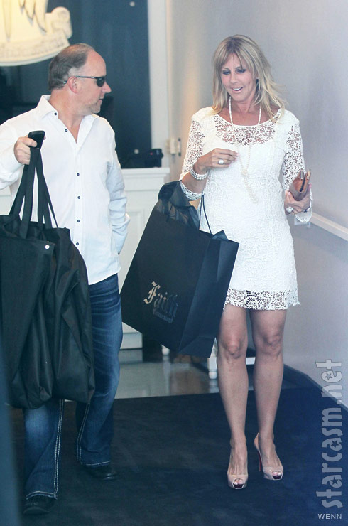 Vicki Gunvalson and her new boyfriend Brooks Ayers out shopping
