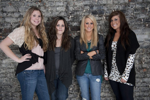 Kailyn Lowry, Jenelle Evans, Leah Messer and Chelsea Houska of Teen Mom 2