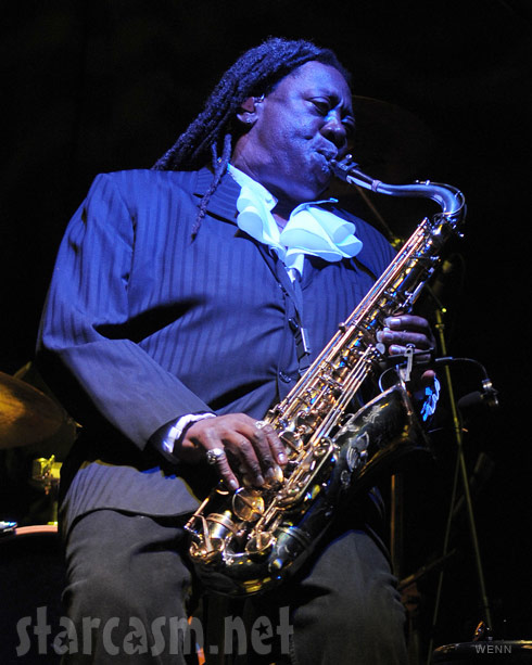 Clarence Clemons at his 69th birthday party