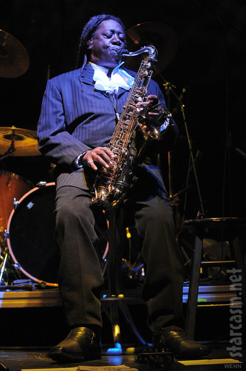 Clarence Clemons saxaphone player from Bruce Springsteen's E Street Band