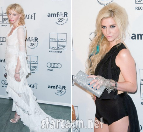 Ke$ha and Courtney Love are a hot mess at amfAR