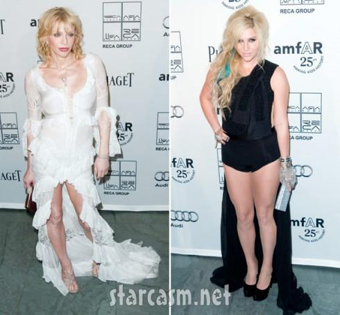 Ke$ha and Courtney Love hot mess-off at amfAR Gala