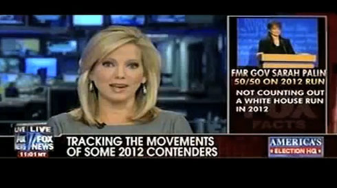 screen capture of Fox News using photo of Tina Fey from SNL for Sarah Palin story