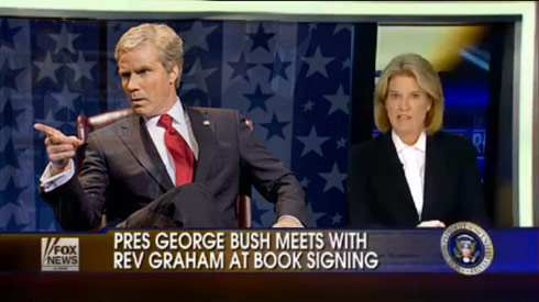 Fox News report uses Will Ferrell image for George W Bush story (fake)