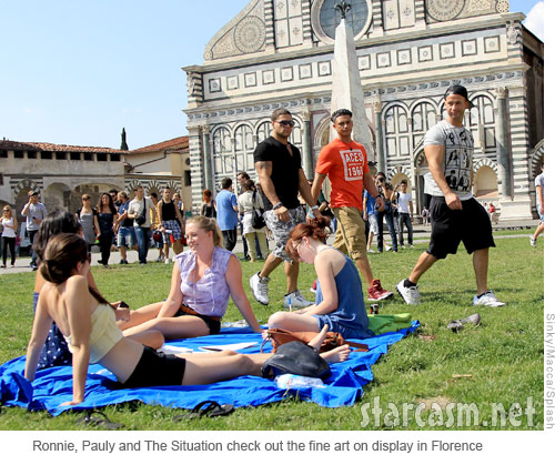 Ronnie, Pauly D and The Situation check out girls sun bathing in Florence