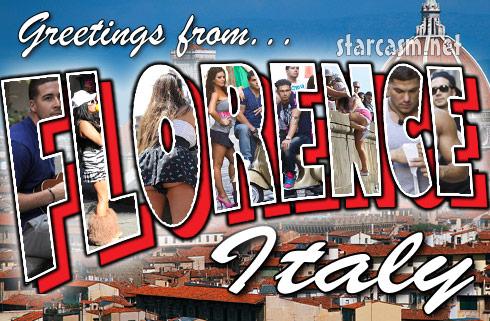Jersey Shore Florence Italy postcard Season 4