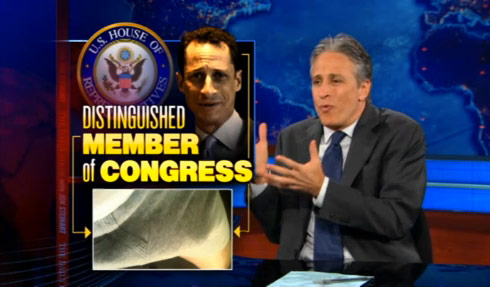 Jon Stewart addresses Anthony Weiner and Weinergate on The Daily Show