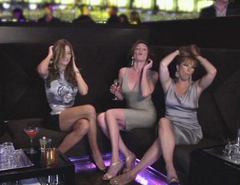 Kelly Bensimon, LuAnn de Lesseps and Jill Zarin party in Chic C'est La Vie music video