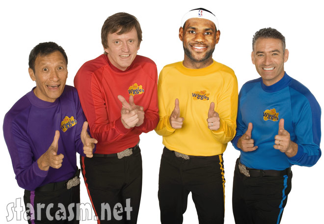"""LeBron James joins the Wiggles for rendition of """"Hot Potato"""" for Bill Simmons"""