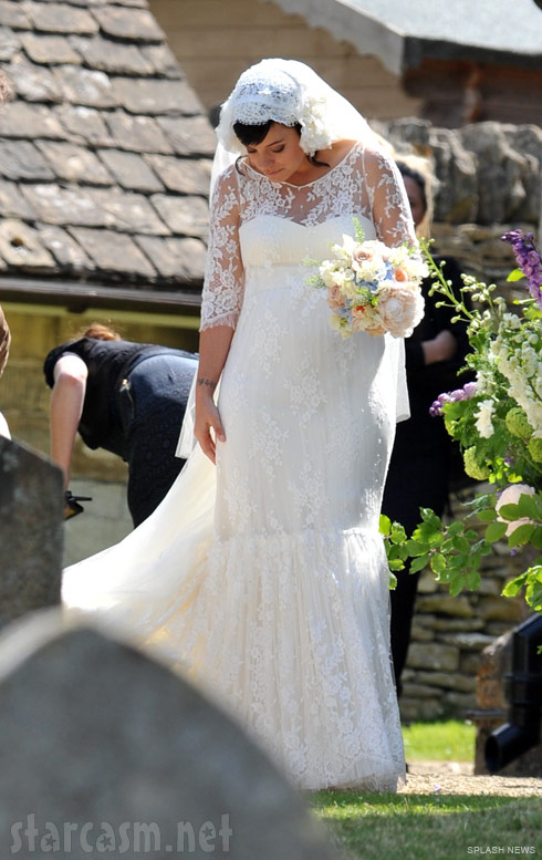 Lily Allen strikes a beautiful pose during her wedding June 11 2011