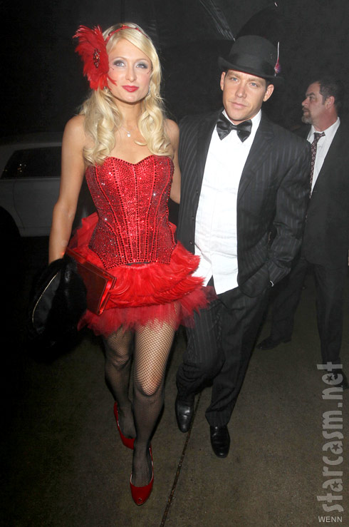 Paris Hilton in bright red lingerie with ex-boyfriend Cy Waits