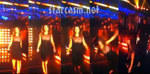 Shania Twain falls during live CMT Awards