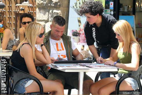 Erica and Brittany Taltos lunch with Jersey Shore's Mike The Situation Sorrentino