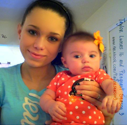 16 and Pregnant's Taylor Lumas with daughter Aubri from Facebook