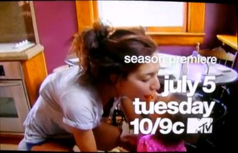 Still image of Farrah Abraham from Teen Mom Season 3 commercial preview