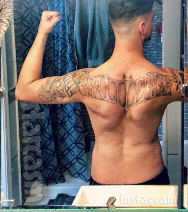 Teen Mom Tyler Baltierra back Tattoo