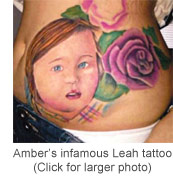Click to see a larger photo of Amber Portwood's Leah tattoo