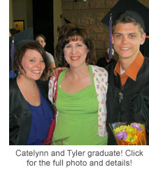 Catelynn and Tyler graduate! Click for larger photo and details!